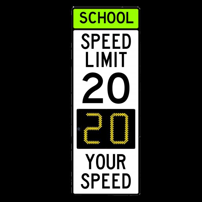 School Speed Limit with Speed Radar