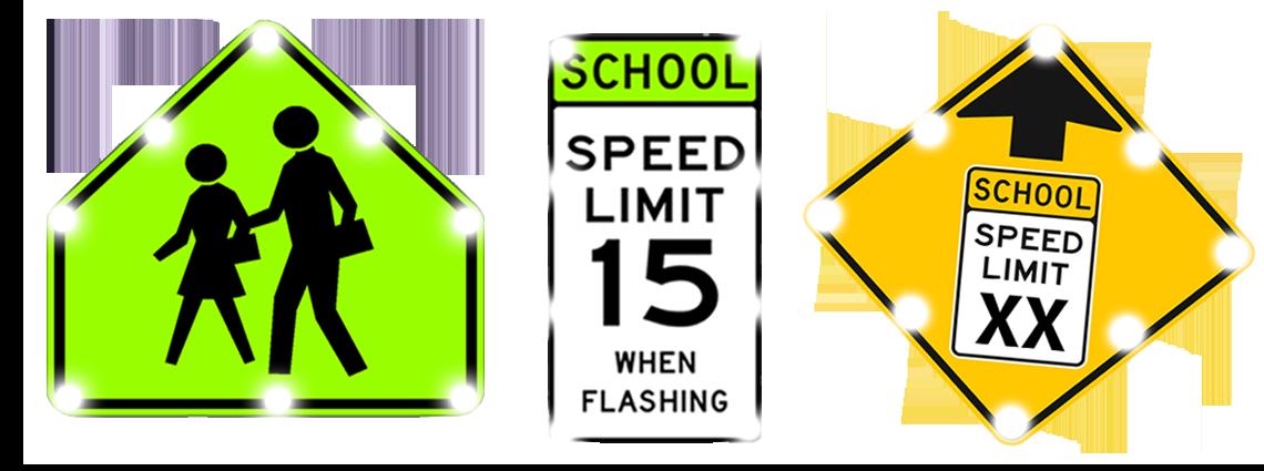 Flashing School Zone Signs