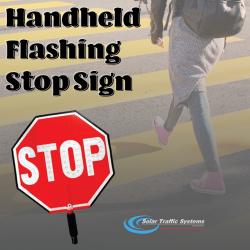 Handheld Flashing Stop Sign